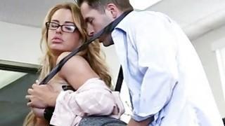 Big tits office babe Corrina banged good