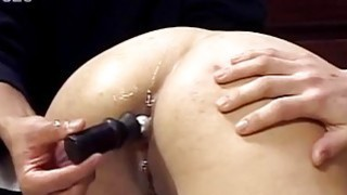 Asian babe gets her asshole toyed and fucked well