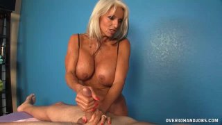 Milf  Offers Cock Massage Extra To Her Massage