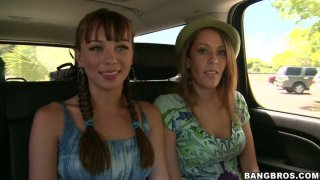 Slutty tourist Delta White and her friends wanna please each other