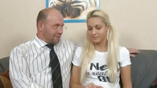 Young gal is being ravished by a lusty aged dude
