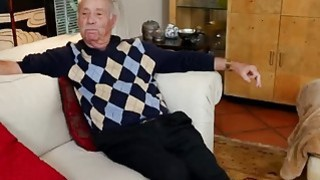 Lucky Old Man Gets Dick Sucked By Two Naughty Teenage Sluts