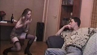Kyla King flirting with her boyfriend and undressing