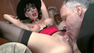 Mature lady insists on his cock