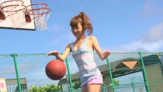 Mesmerizing Japanese teen Nozomi Kawasaki strips in bikini in front of camera