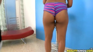 Sexy and sweet Imani Rose sucks Jmac's cock and gets pleasure