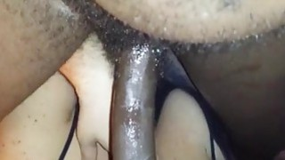 Black man gets perfect blowjob from his white girl