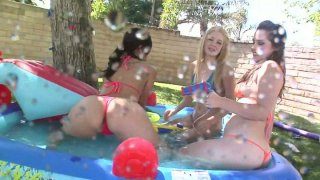 Fondling at the pool with Ally Ann, Alexis Breeze and Charlotte Vale